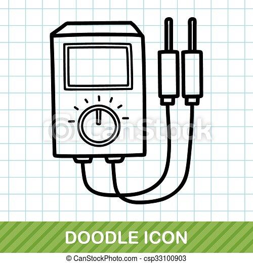 doodle, transformador, poder - csp33100903