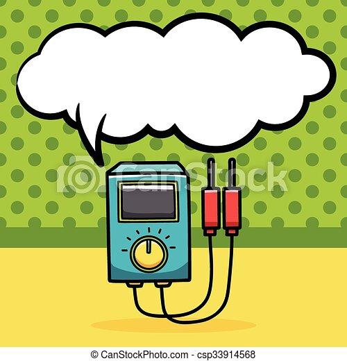 doodle, transformador, poder - csp33914568