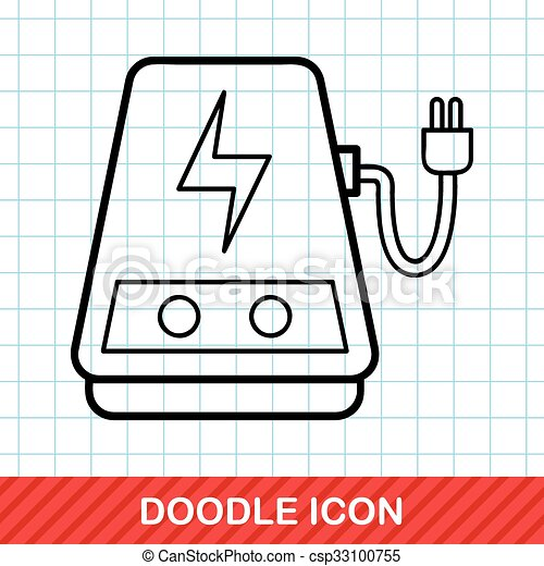 doodle, transformador, poder - csp33100755