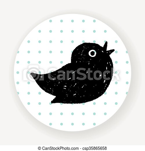 doodle twitter clipart vector search illustration drawings and