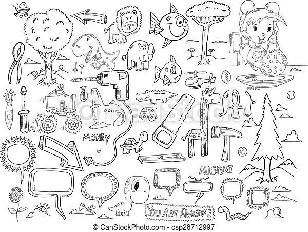 Doodle Vector Set - csp28712997