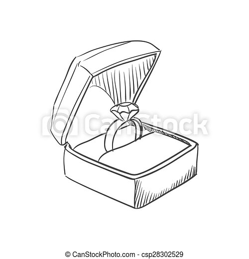 Doodle wedding ring - csp28302529