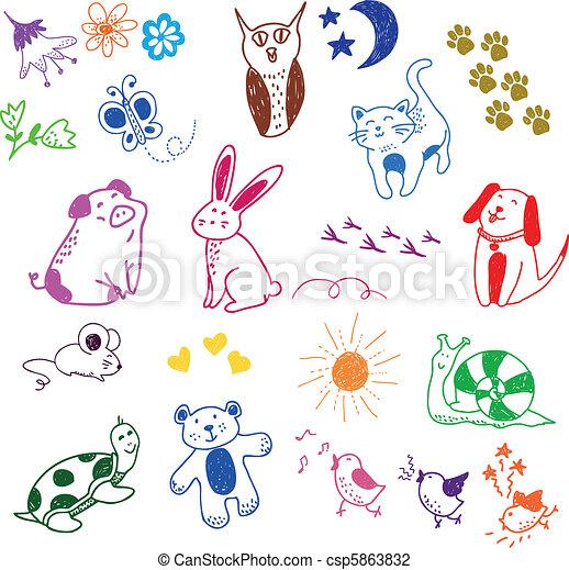 Fideos de animales - csp5863832