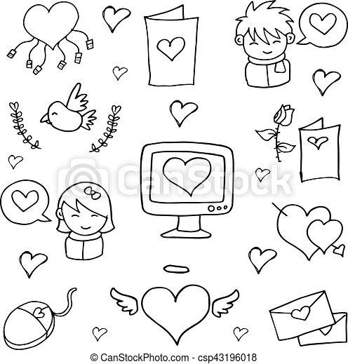 Doodles Dessiner Amour Main Dessiner Art Main Vecteur