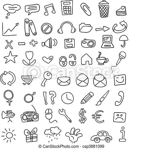 doodles, icono - csp3881099