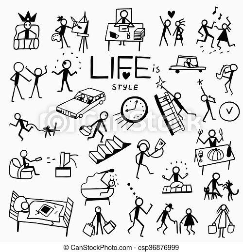 doodles, lebensstil - csp36876999