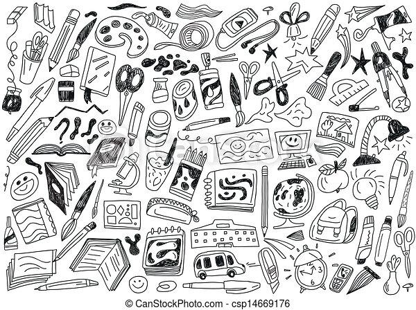 doodles, school, opleiding, - - csp14669176