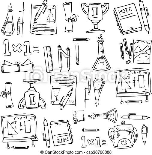 Doodles schule gegenstand design schule kunst for Design schule
