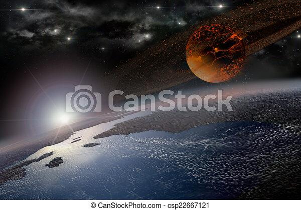 Doom morning on Earth - csp22667121