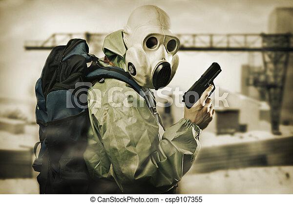 doomsday., arma, homem - csp9107355