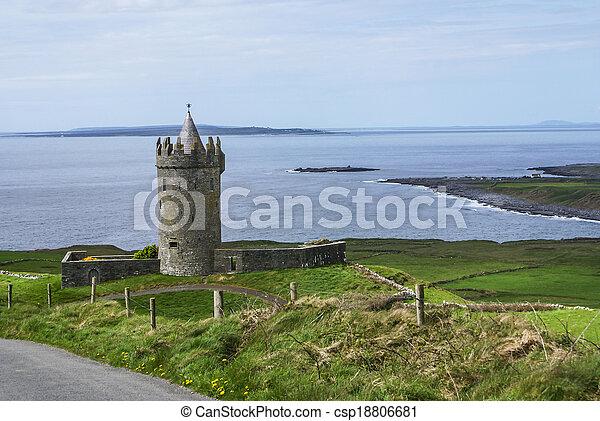 Doonagore Castle Doolin co. Clare Ireland - csp18806681