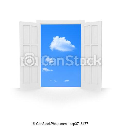 Abre la puerta. - csp3716477