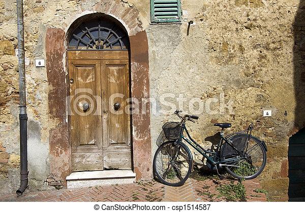 Door and Bike - csp1514587