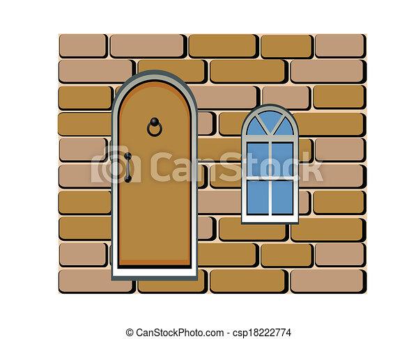 door and window background - csp18222774
