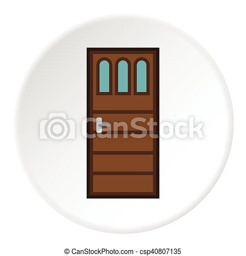 Door Icon Flat Style Vector  sc 1 st  Can Stock Photo & Door icon flat style. Door icon. flat illustration of door ...