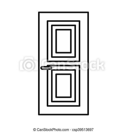 Door icon, outline style - csp39513697