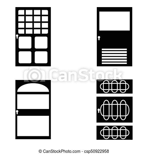 door icon set - csp50922958