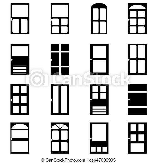 Door icon set - csp47096995