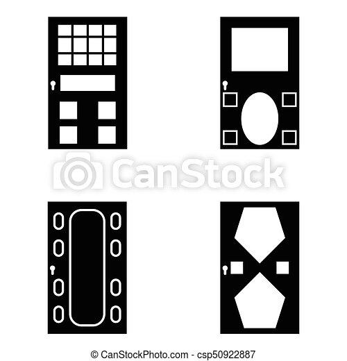 door icon set - csp50922887