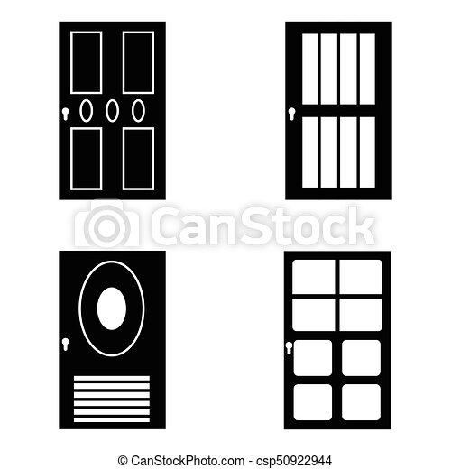 door icon set - csp50922944