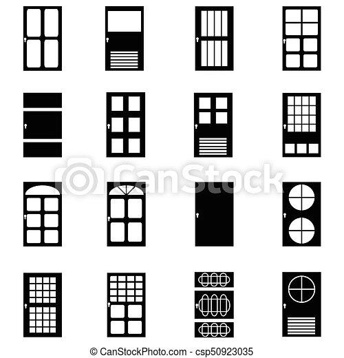 door icon set - csp50923035