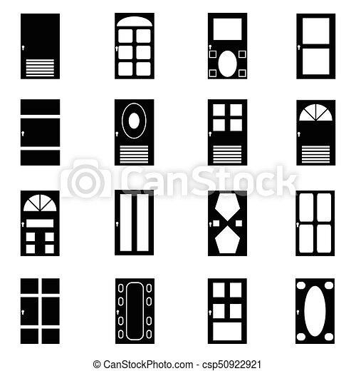 door icon set - csp50922921