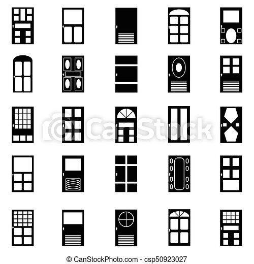 door icon set - csp50923027
