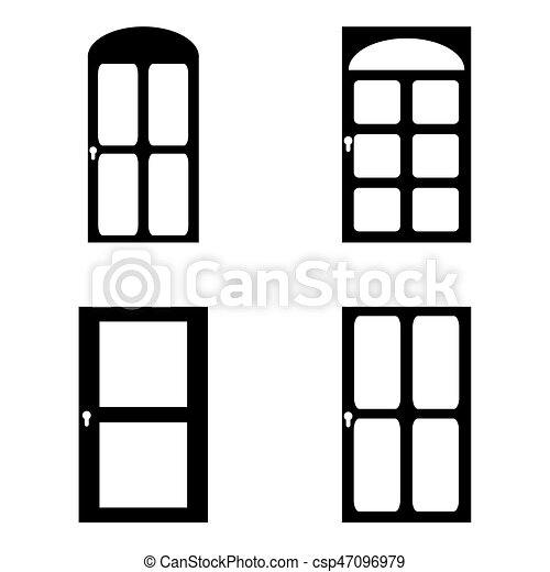 Door icon set - csp47096979