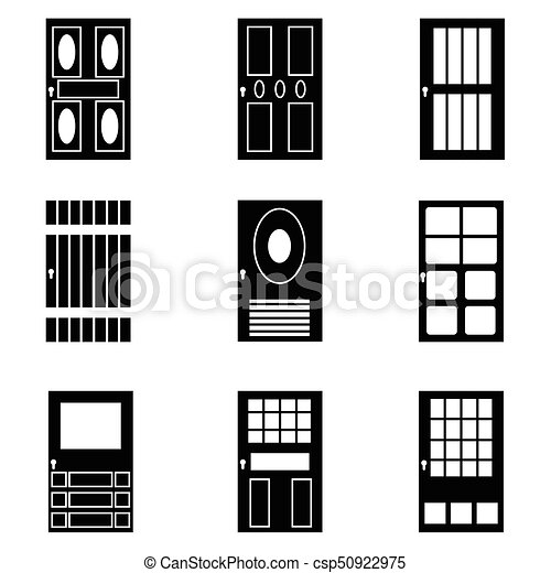 door icon set - csp50922975