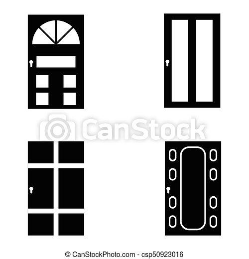 door icon set - csp50923016