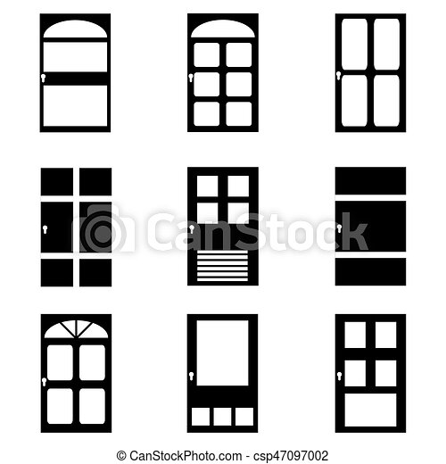 Door icon set - csp47097002