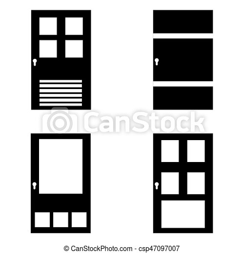Door icon set - csp47097007