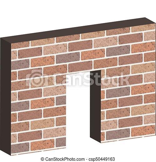 Door In Brick Wall 3D