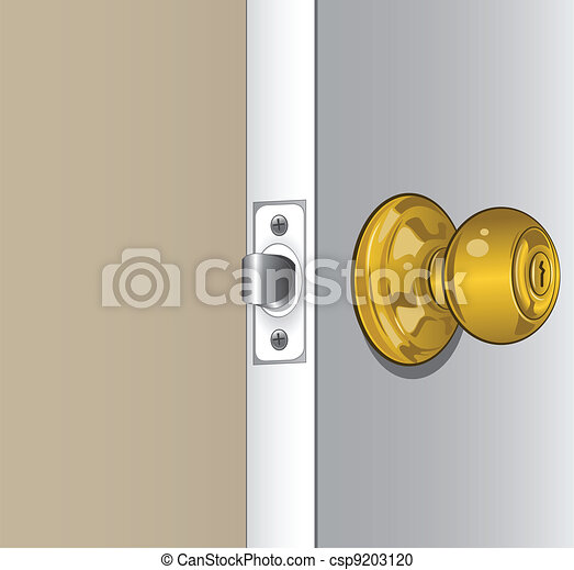 A highly detailed illustration of a door knob. vector clipart ...