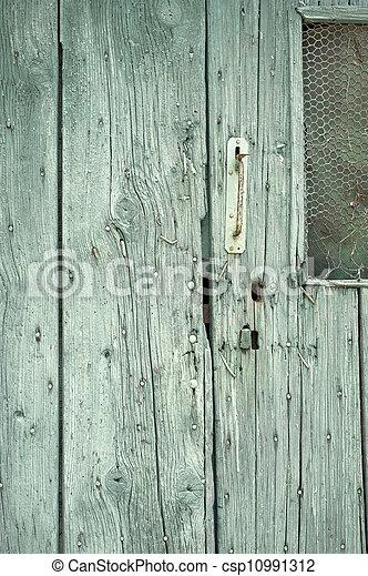 Door lock and key hole - csp10991312