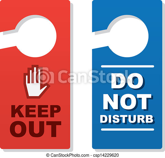 Door Signs Keep Out - csp14229620  sc 1 st  Can Stock Photo & Door signs keep out . Isolated door signs. keep out and do not ...