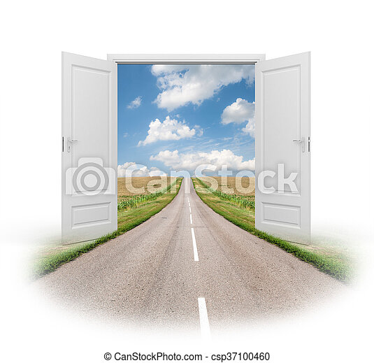 Door to a new reality - csp37100460