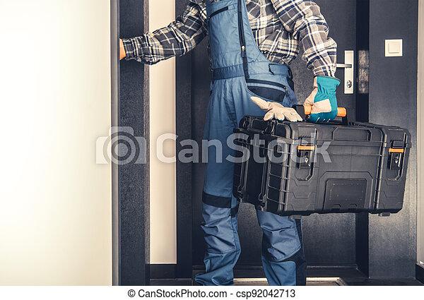 Door to Door Service Concept - csp92042713