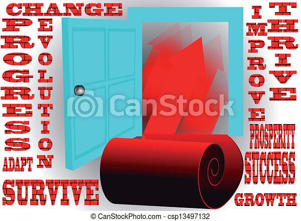 door to success - csp13497132