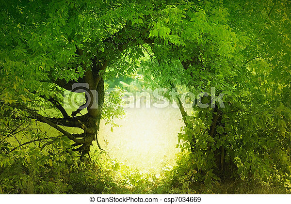 Door to the fairy land - csp7034669