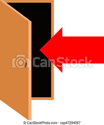 door with pointing arrow - csp47294067  sc 1 st  Can Stock Photo & Door with pointing arrow.