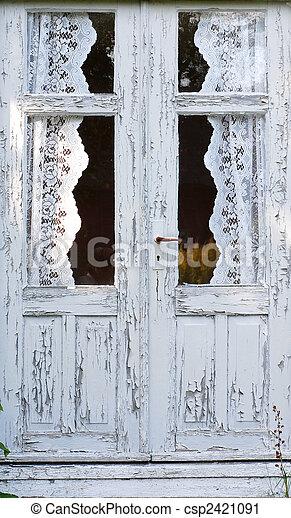 Door with the paints flaking of - csp2421091