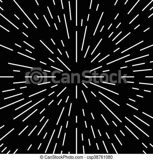 doorbraak, model, lijnen, radiaal, monochroom, geometrisch, circulaire - csp38761080