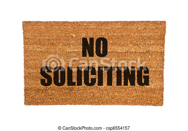 Delightful Doormat With No Soliciting Text   Csp6554157
