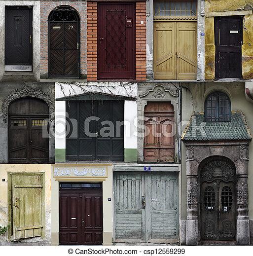 Incroyable Doors Collage   Csp12559299