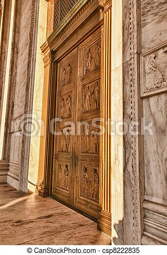 Doors of Supreme court - csp8222835
