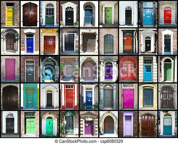 Doors - csp6080329 & Doors. Different multi colored doors stock photographs - Search ... pezcame.com