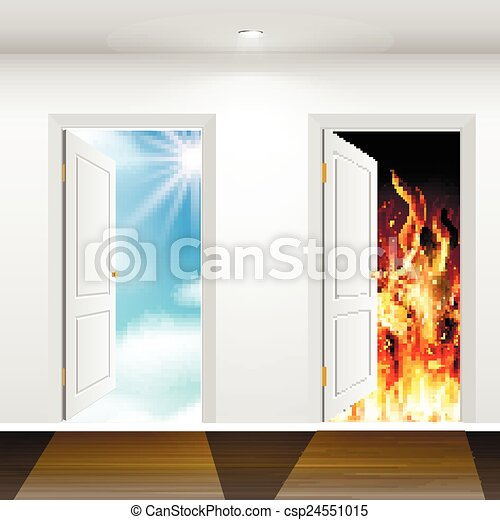 Doors to heaven and hell - csp24551015