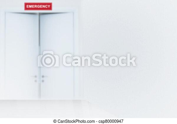 Doorway of Emergency room - csp80000947