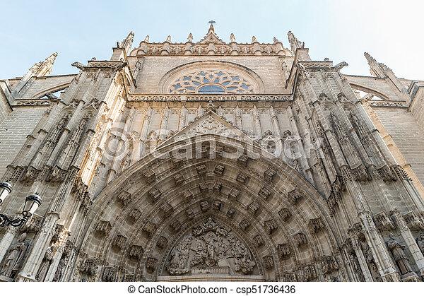 Doorway of Seville cathedral - csp51736436